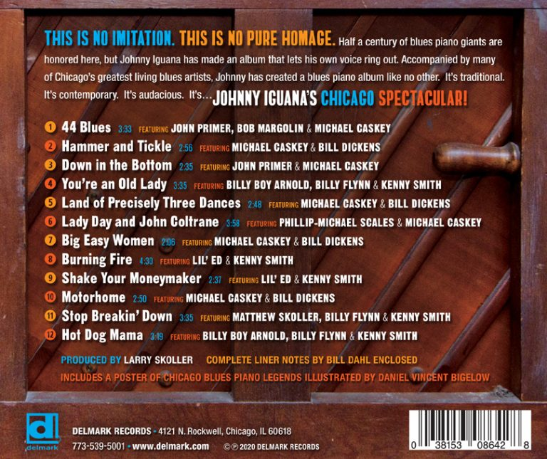 Back Cover - JOHNNY IGUANA'S CHICAGO SPECTACULAR!